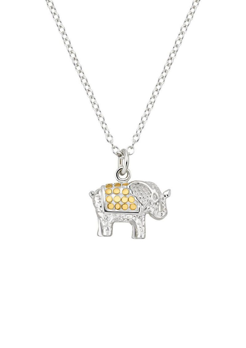 ANNA BECK Small Elephant Charity Necklace - Gold & Silver main image
