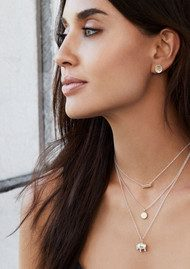 ANNA BECK Small Elephant Charity Necklace - Gold & Silver