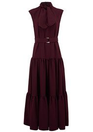 SPACE STYLE CONCEPT Tie Detail Maxi Crepe Dress - Aubergine
