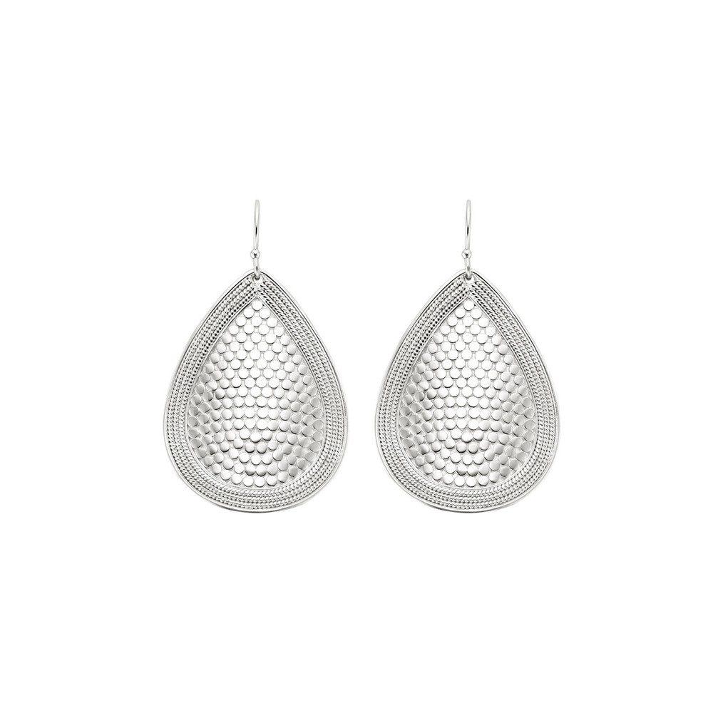 Teardrop Earrings - Silver