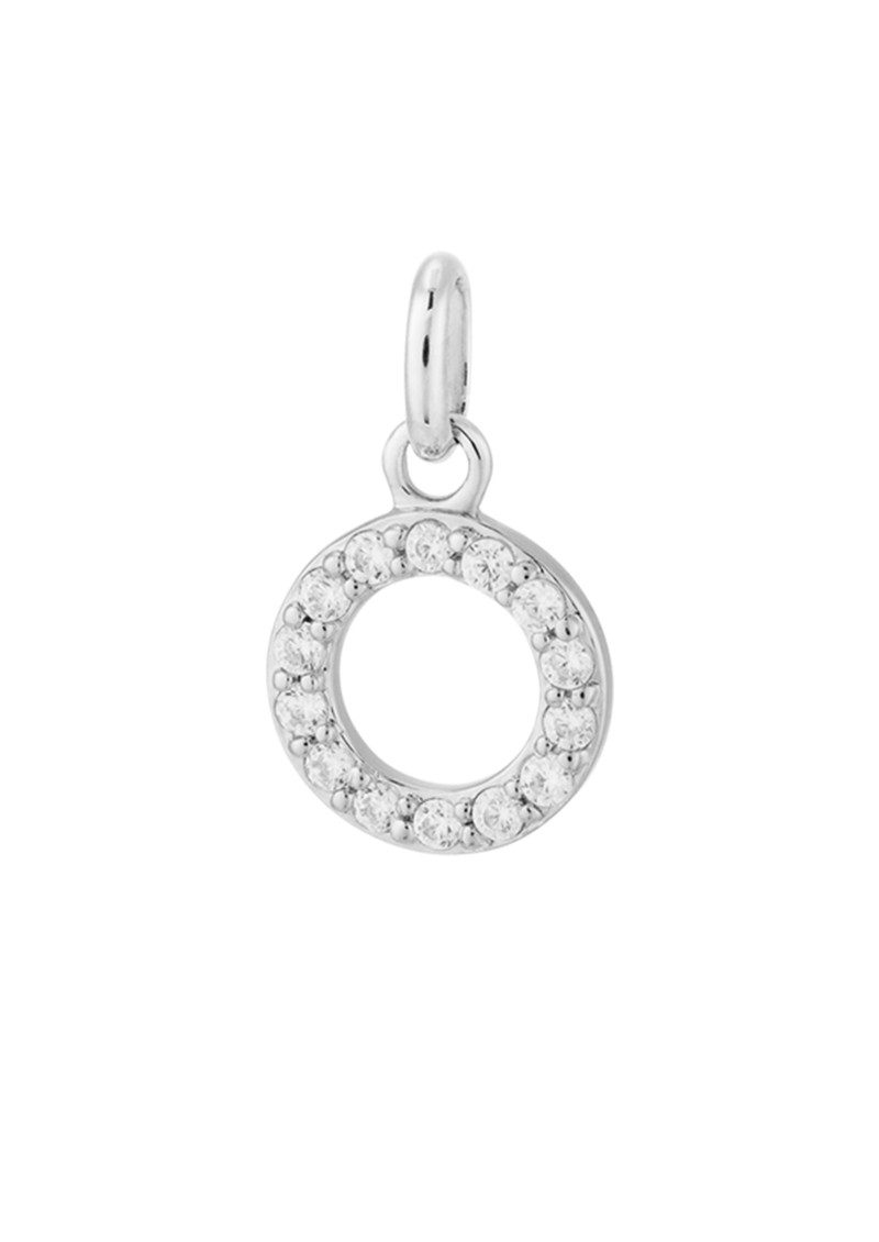 Bespoke Crystal Circle Outline Charm - Silver main image