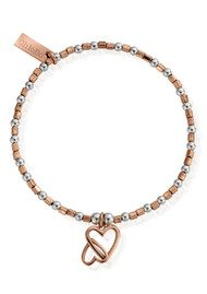 ChloBo Inner Spirit Interlocking Love Heart Bracelet - Silver & Rose Gold