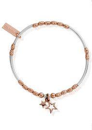 ChloBo Inner Spirit Double Star Bracelet - Silver & Rose Gold