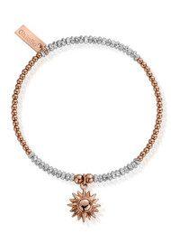 ChloBo Inner Spirit Sparkle Sun Bracelet - Rose Gold & Silver