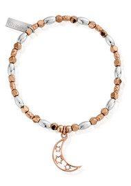 ChloBo Inner Spirit Lunar Cresent Moon Bracelet - Rose Gold & Silver