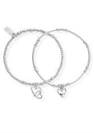 ChloBo Inner Spirit Double Devotion Set of 2 Bracelets - Silver