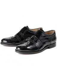 Hudson London Maddie Patent Brogues - Black
