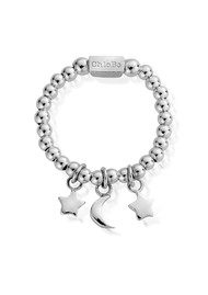 ChloBo Inner Spirit Triple Night Sky Ring - Silver