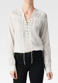 Paige Denim Tansy Cotton Blouse - White