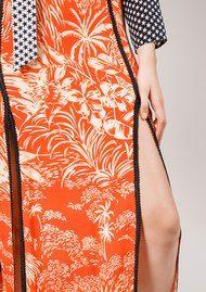RIXO London Thalia Skirt - Red Oriental Jungle