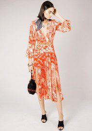RIXO London Camellia Dress - Red Oriental Jungle