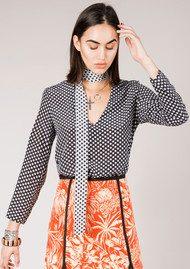 RIXO London Sadie Neck Tie Blouse - Mini Star
