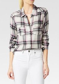 Paige Denim Mya Shirt - Cream, Evening Blue and Orchid