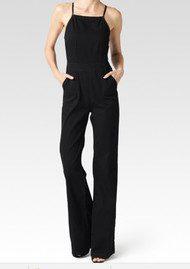Paige Denim Rihannon Cotton Jumpsuit - Black Overdye