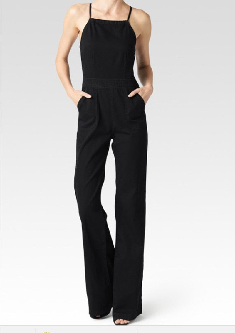 utterly stylish new images of finest selection Rihannon Cotton Jumpsuit - Black Overdye