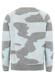 JUMPER 1234 Camo Cashmere Jumper - Grey & Spearmint