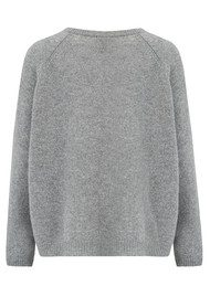 JUMPER 1234 Loose Lurex Cashmere Boyfriend Jumper - Mid Grey