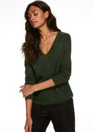 Maison Scotch V Neck Lurex Pullover - Colour 1081