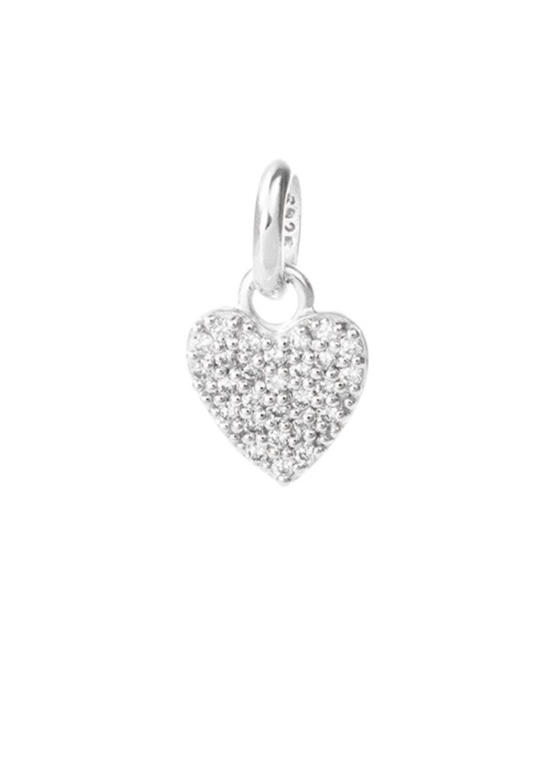 KIRSTIN ASH Bespoke Crystal Heart Charm - Silver main image