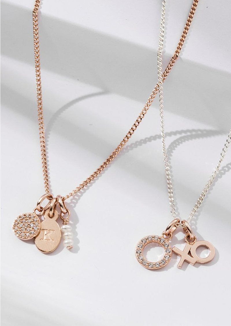 Bespoke Crystal Heart Charm - Rose Gold main image