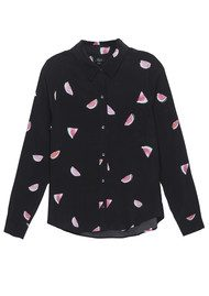 Rails Kate Silk Shirt - Watermelon