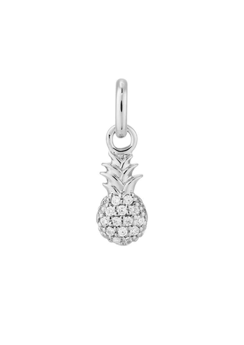 Bespoke Crystal Pineapple Charm - Silver main image