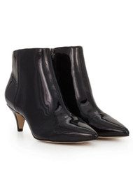 Sam Edelman Kinzey Patent Kitty Heel Boot - Black