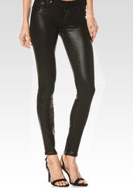 Paige Denim VERDUGO LUXE COATED SKINNY JEANS - BLACK FOG