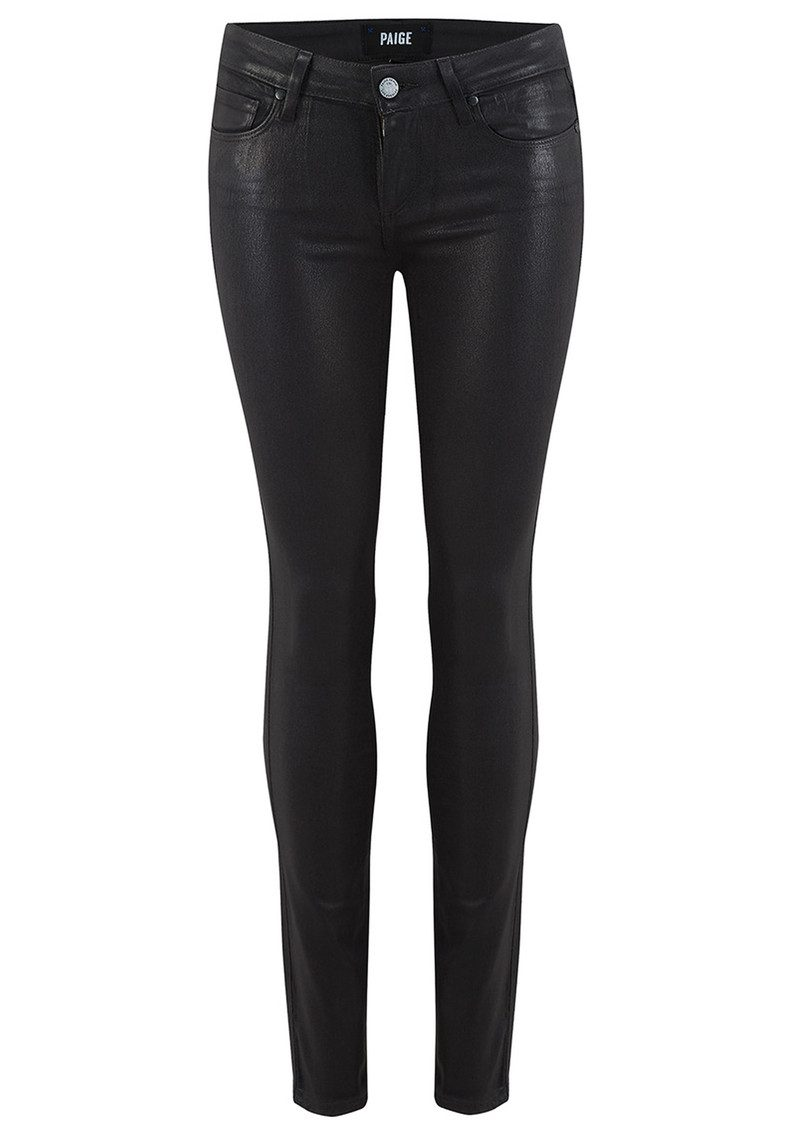 Paige Denim VERDUGO LUXE COATED SKINNY JEANS - BLACK FOG main image