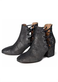 Hudson London Krys Metallic Leather Boot - Black