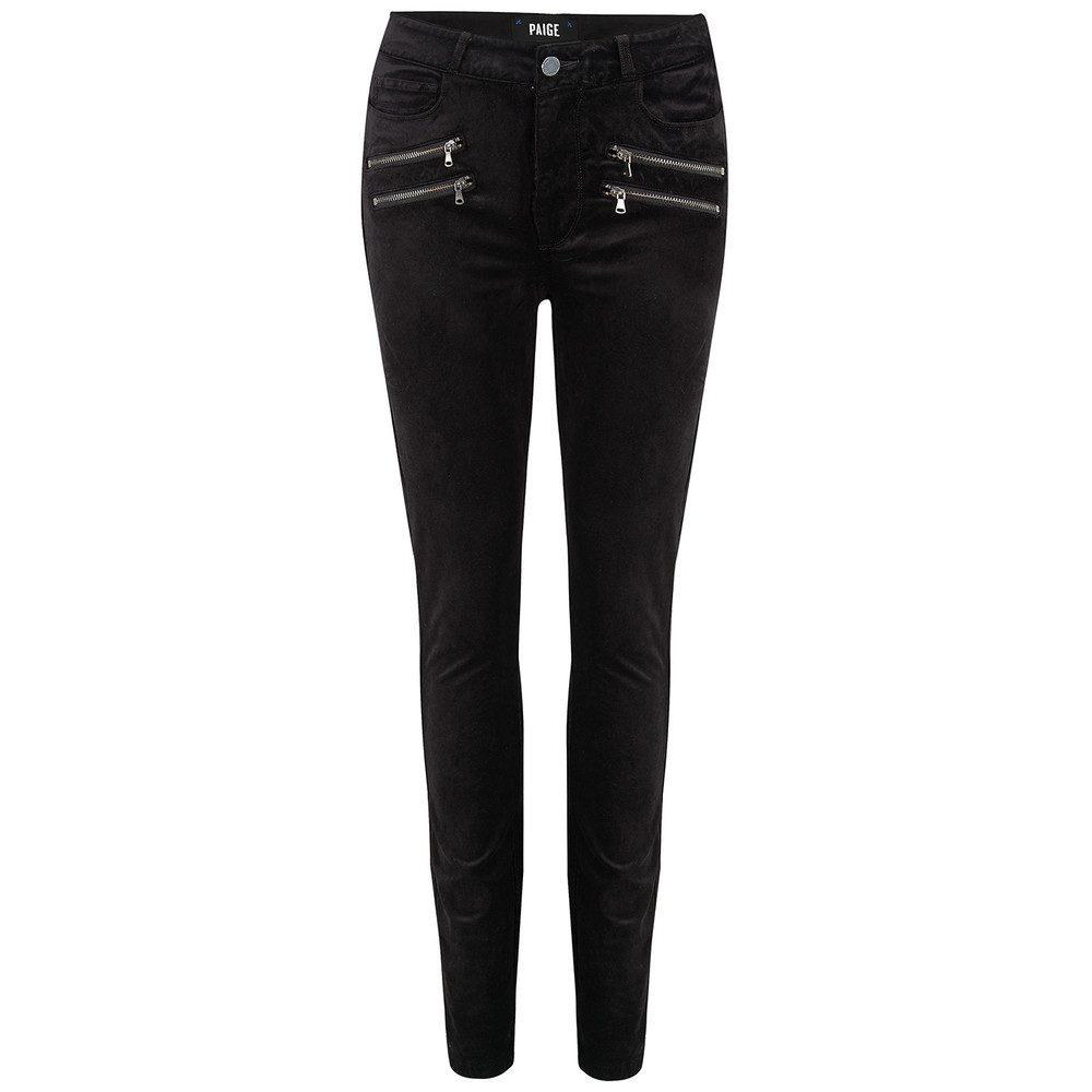 Edgemont High Rise Velvet Skinny Jeans - Black