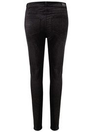 Paige Denim Edgemont High Rise Velvet Skinny Jeans - Black