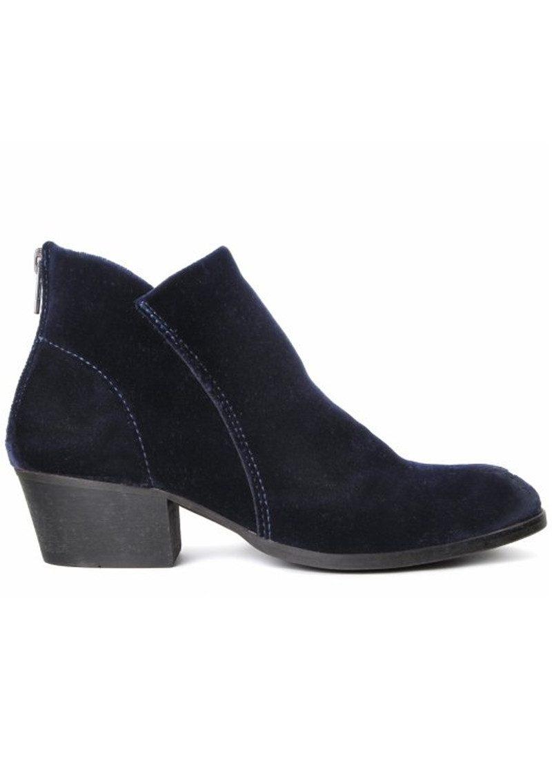 Hudson London Apisi Velvet Boots - Navy