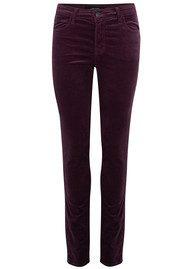 J Brand Maria High Rise Luxe Velveteen Jeans - Aubergine