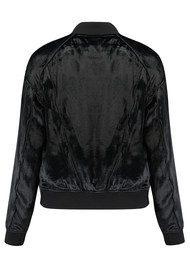 J Brand Velvet Pace Bomber Jacket - Black