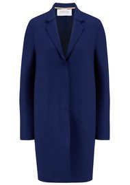 HARRIS WHARF Cocoon Wool Coat - Ink
