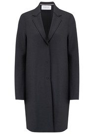 HARRIS WHARF Cocoon Wool Coat - Gunmetal