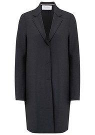HARRIS WHARF Cocoon Wool Coat - Gunmetal