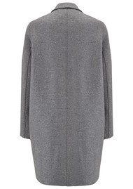 HARRIS WHARF Cocoon Wool Coat - Grey Mouline