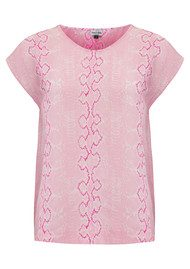 Mercy Delta Blair Embroidery Top - Python Blush