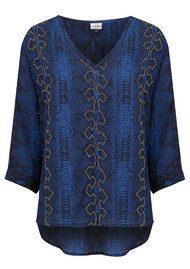 Mercy Delta Parke Embroidery Silk Top - Python Midnight