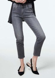 Sadey Mid Rise Slim Straight Jeans - Earl Grey