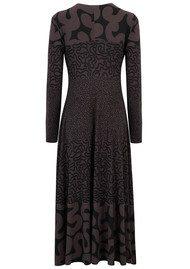 KAMALI KULTURE Long Sleeve Flared Dress - Squiggle Combo