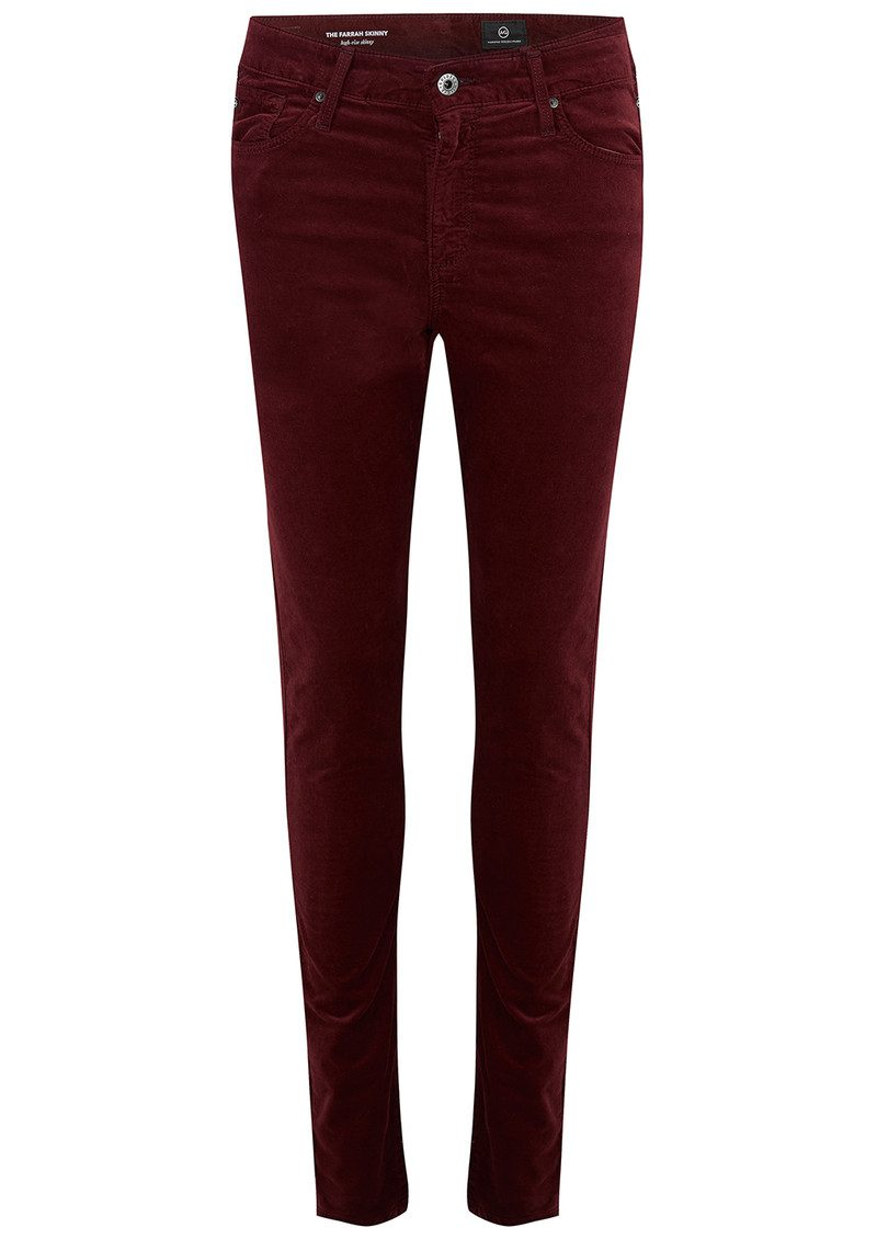 Stunning brand new VOLCOM JEANS SOUND CHECK WOMENS BAROQUE PLUM VELVET ON DENIM SUPER SKINNY JEANS The velvet is plum and the denim is a greyish shade of dark blue, they are a bit darker than photos.