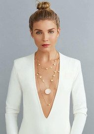 ANNA BECK Moonstone Multi Disc Station Necklace - Gold