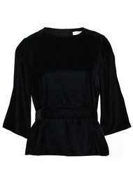Ba&sh Roxane Velvet Top - Black