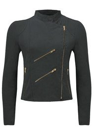 FAB BY DANIE Paris Suede Jacket - Dark Grey