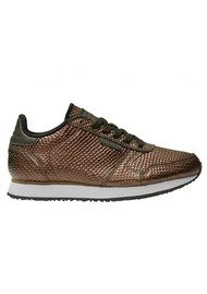 WODEN Ydun Metallic Trainers - Burnished Copper