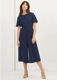 Great Plains Essentials Crepe Jumpsuit - Classic Navy