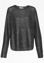 Great Plains Lennox Coated Knit Jumper - Black